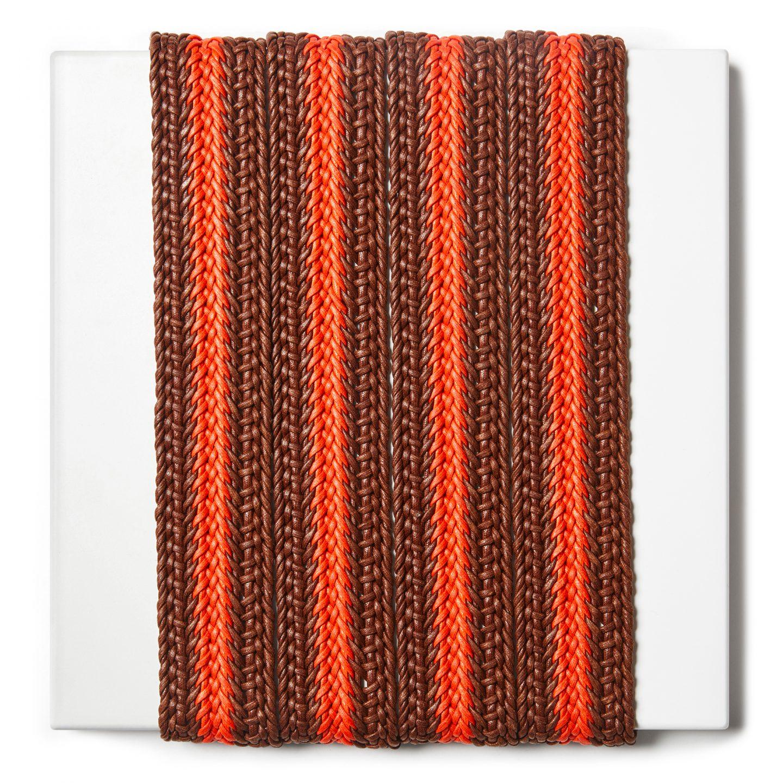 Treccia rigida per tracolle e cinture in cotone cerato