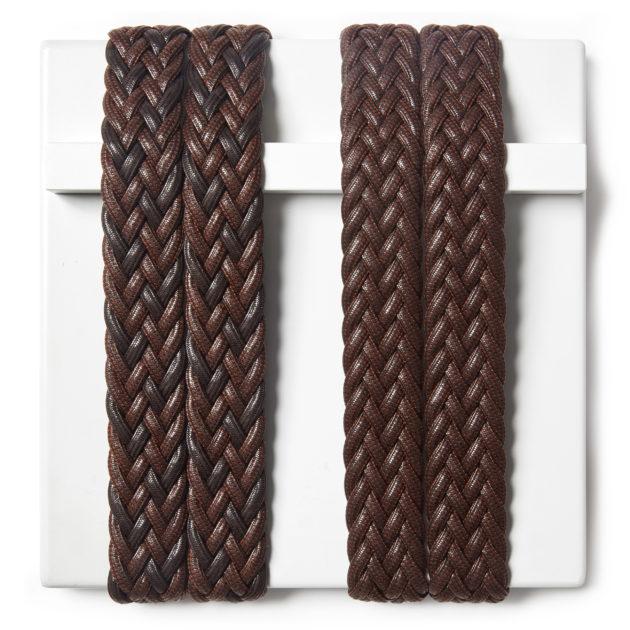 Trecce elastiche in cotone cerato