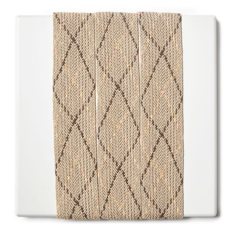 treccia rigida in lino e cotone
